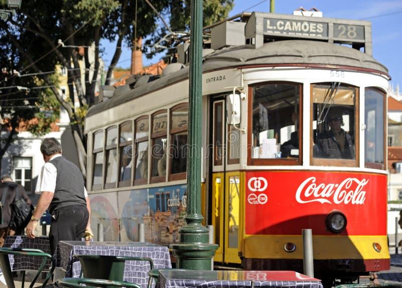 Tram 28, Lisbon royalty free stock photography