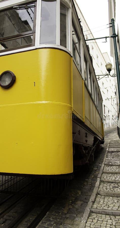 Tram in Lissabon royalty-vrije stock foto's