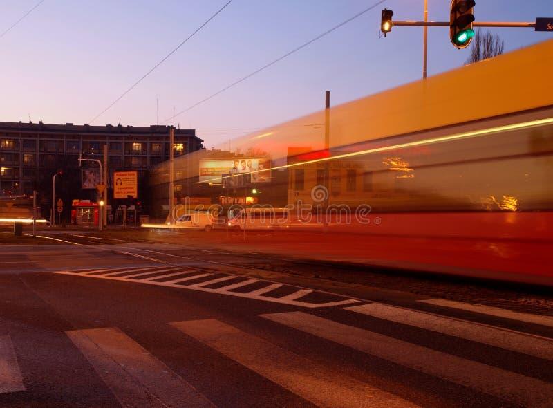 Tram Lodz fotografie stock
