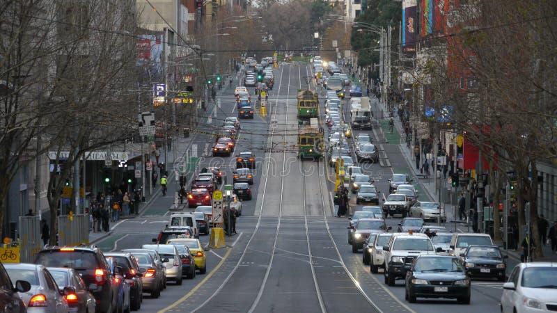 Tram in Melbourne stock afbeeldingen