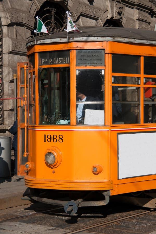Download Tram in Milan stock photo. Image of urban, passengers - 8726024