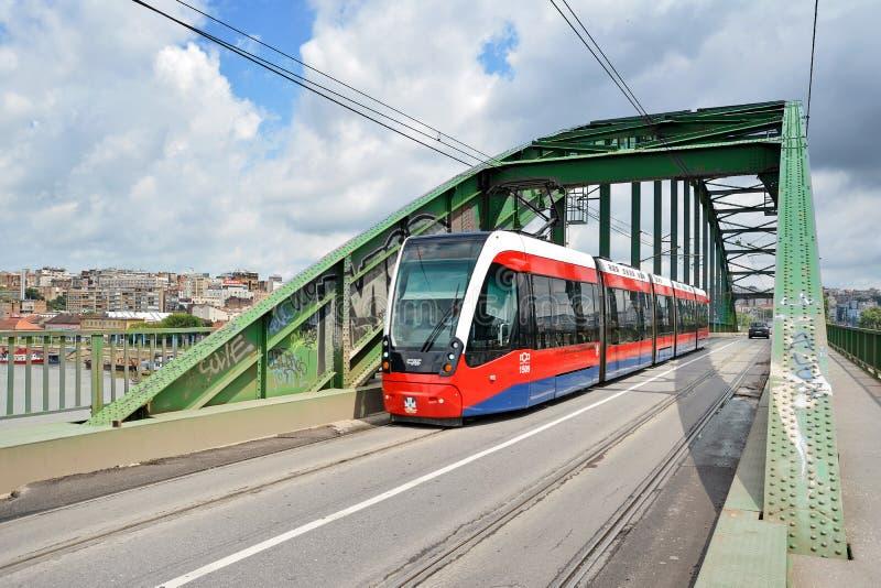 Tram moderne, Belgrade, Serbie images stock