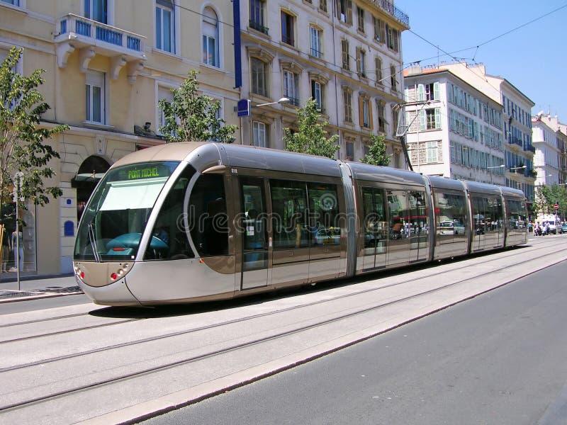 Tram in Nice royalty-vrije stock foto