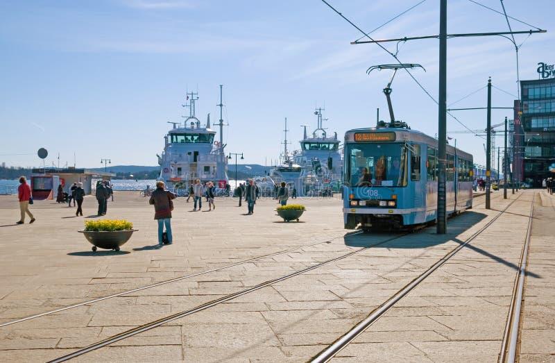 Tram in Oslo. Norway stock photos
