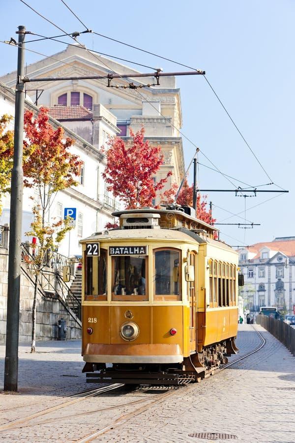 Tram, Porto royalty free stock photos