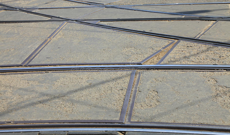 Download Tram rails stock image. Image of intersection, urban - 12344663