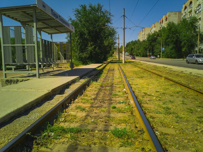 127-Tram Rails royalty free stock images