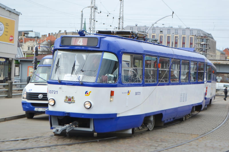 Tram in Riga. royalty free stock photography