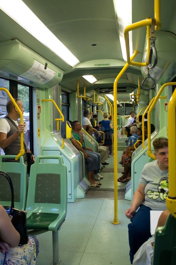 Tram in Rom stockbild