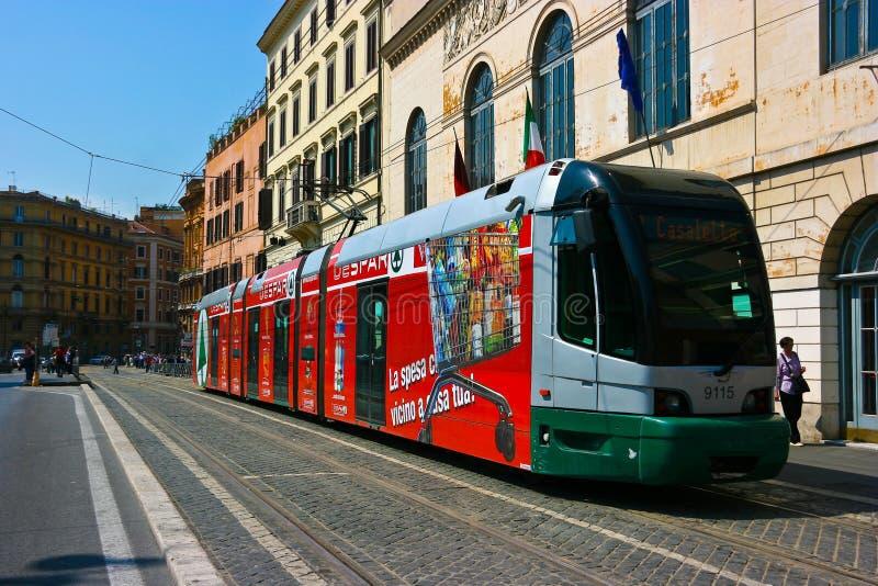 Tram in Rome stock foto's