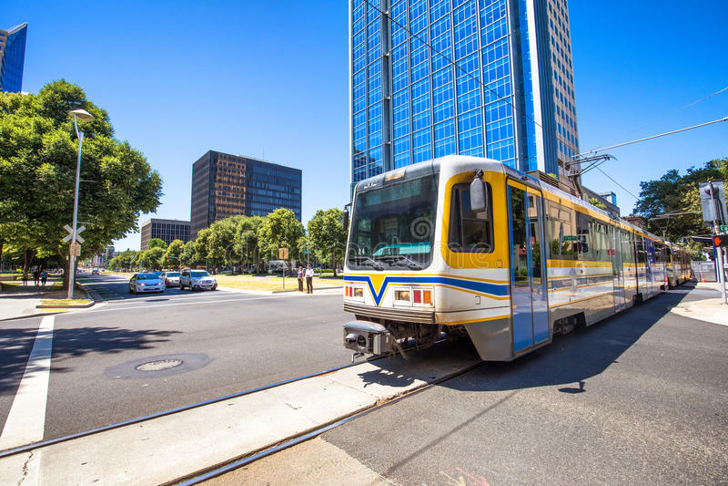 Tram Sacramento lizenzfreie stockfotos