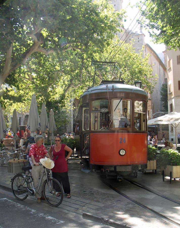 Tram Soller Mallorca royalty free stock photos