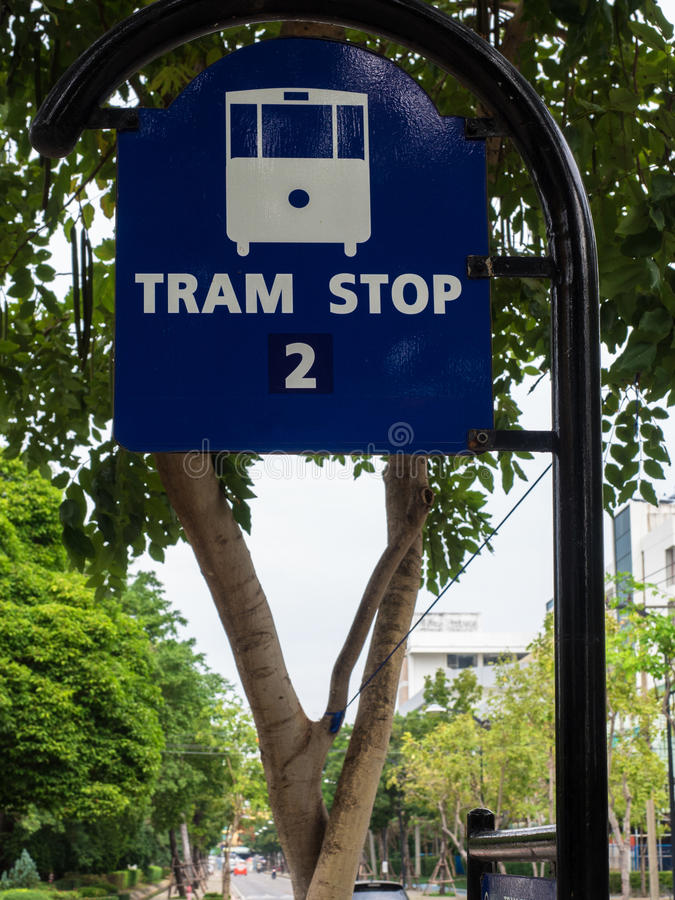 Download Tram Stop Stock Photo - Image: 83706945