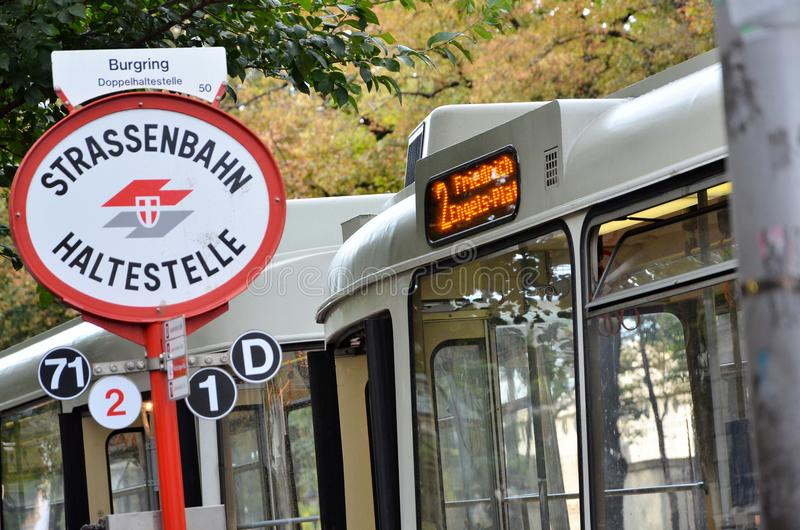 Tram stop in Vienna royalty free stock image