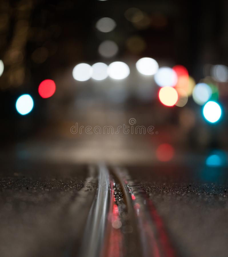 Tram Tracks in Oslo stock photography