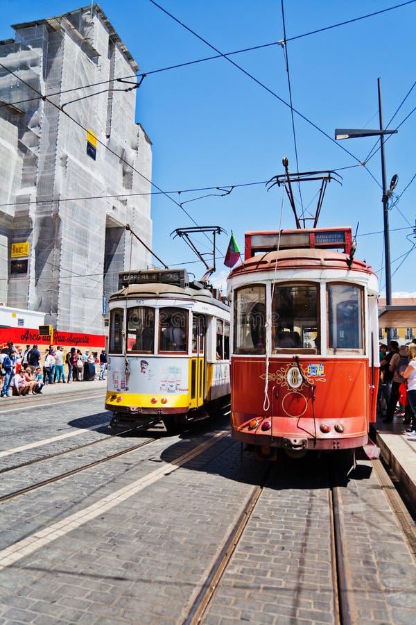 Tram traditionnel à Lisbonne, Portugal photo libre de droits