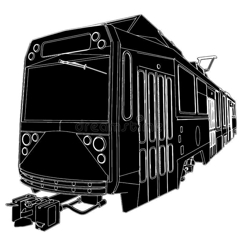 Download Tram Trolley Vector 04 stock vector. Image of attraction - 16535192