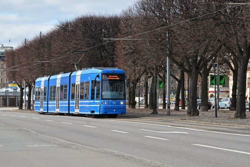 Download Tram 2 van Stockholm redactionele stock afbeelding. Afbeelding bestaande uit stockholm - 39112219