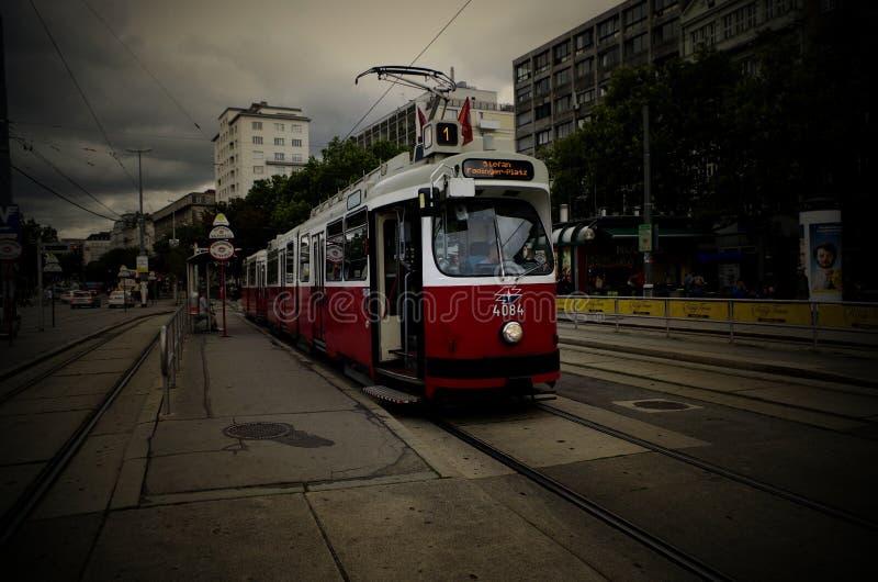Tram van Wenen Oostenrijk op Juli royalty-vrije stock fotografie