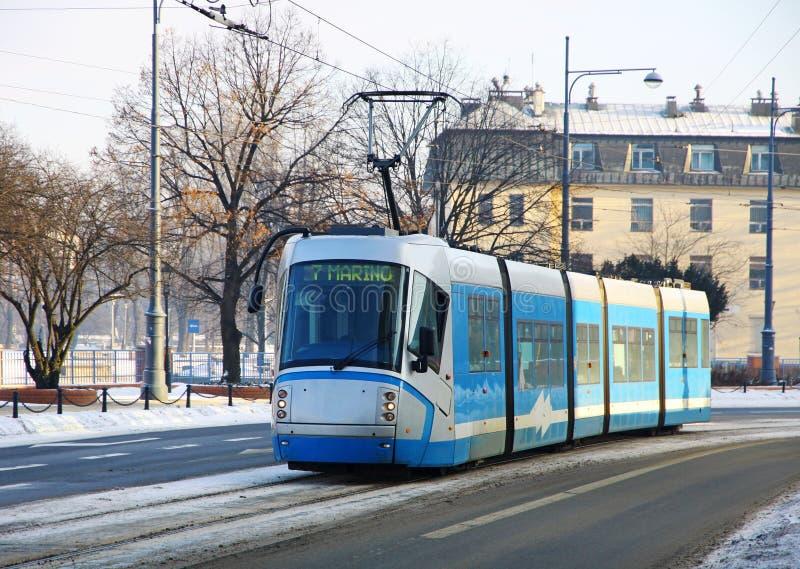 Tram in Wroclaw, Polen stock foto's