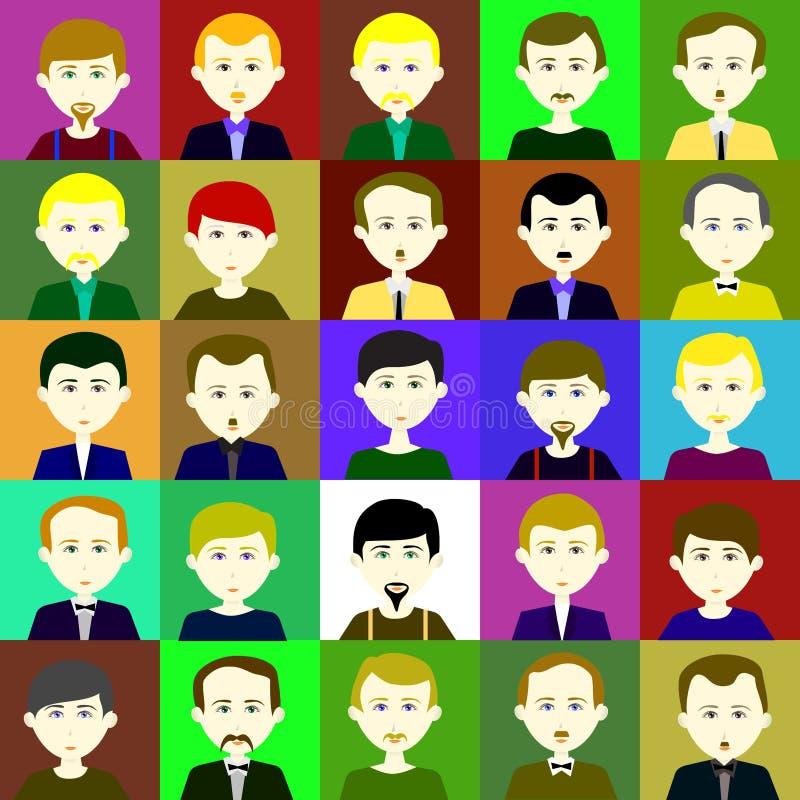 Trama 2 de 25 hombres 1 1 stock de ilustración. Ilustración de ...