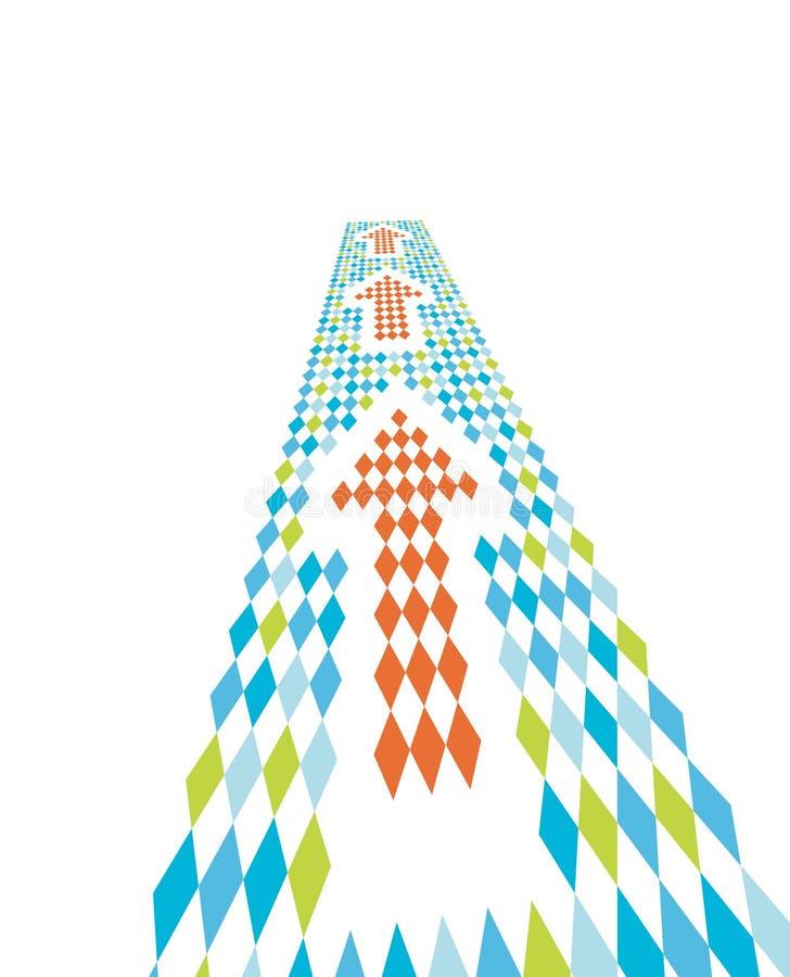 trama de las flechas de la dirección 3d stock de ilustración