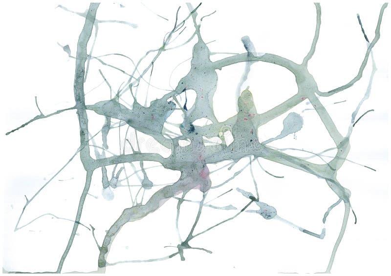 Trama di linea grigia astratta con sfondo bianco isolato,BLOB di input penna sfumato stampaggio manuale a colori royalty illustrazione gratis