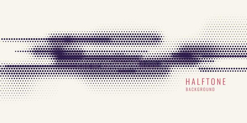 Trama monocromática de la impresión, fondo abstracto del tono medio del vector textura monocromática de puntos stock de ilustración