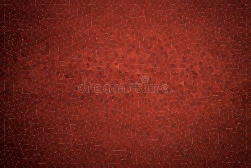Trama rossa scura astratta Sfondo dipinto con una mano di acquerello astratta illustrazione vettoriale