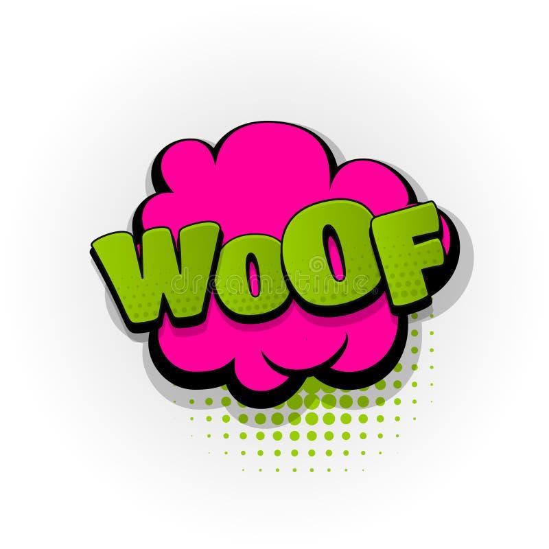 Trama szczeniaka komiksu teksta wystrzału psia sztuka ilustracji