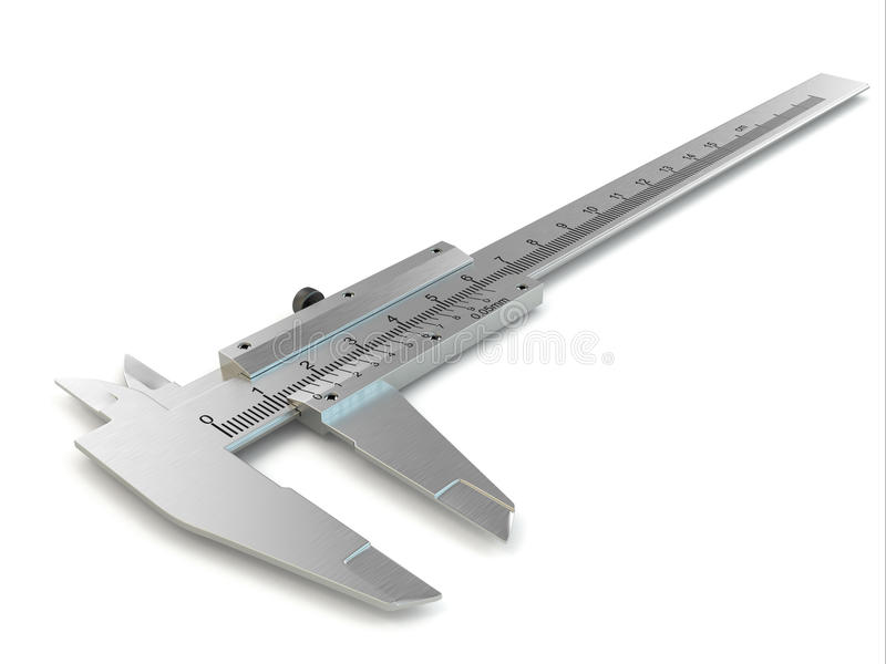Tramaglio. Calibro dell'acciaio inossidabile. royalty illustrazione gratis