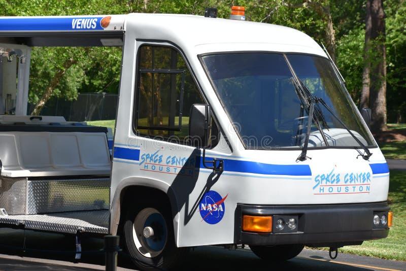 Tramausflug in Raumfahrtzentrum Houston in Texas stockfotos