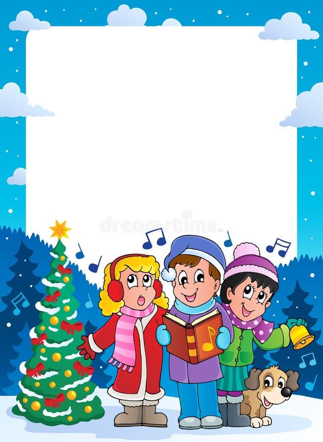Trame 9 de thème de Noël illustration de vecteur