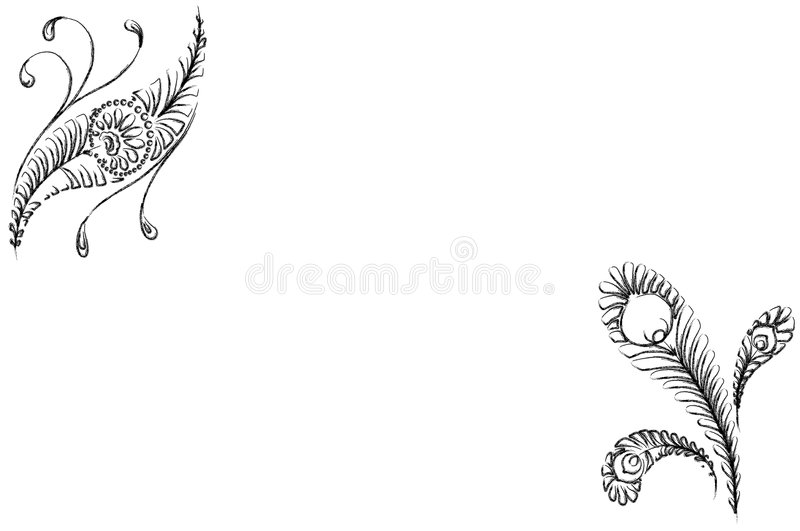 trame abstraite de fleurs illustration libre de droits