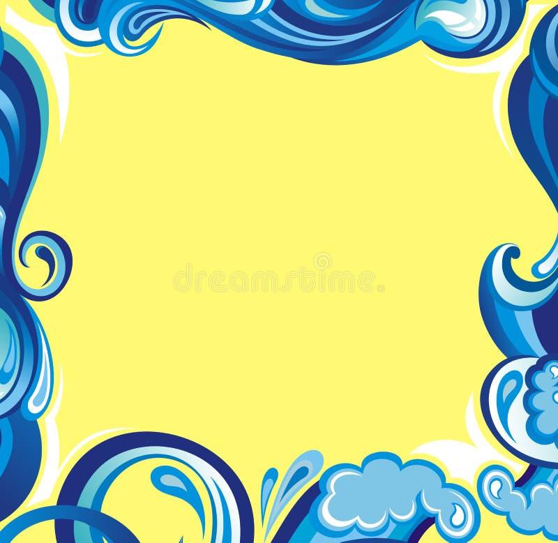 Trame abstraite de l'eau illustration de vecteur