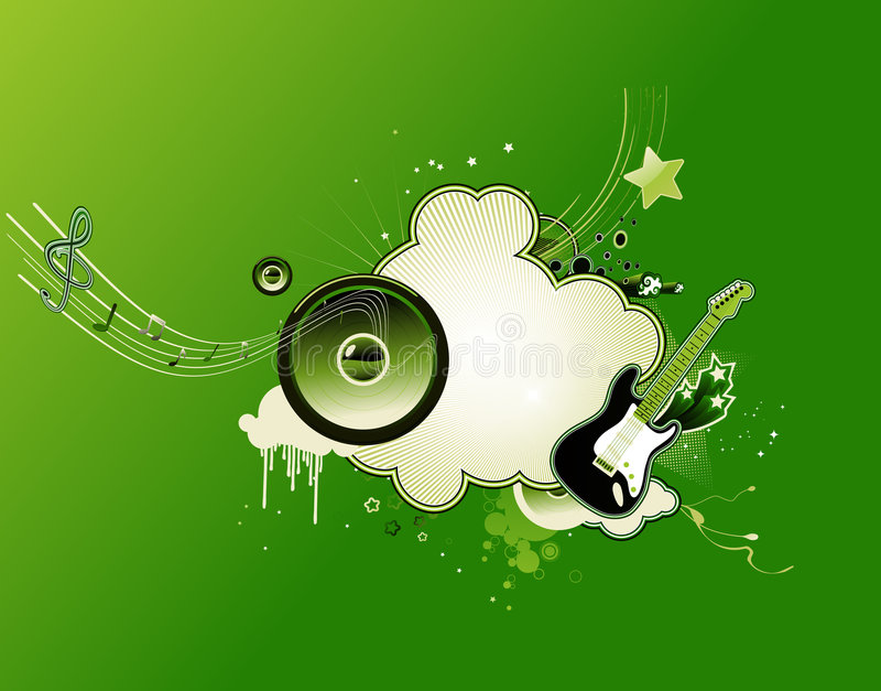 Download Trame abstraite de musique illustration de vecteur. Illustration du floral - 8670945