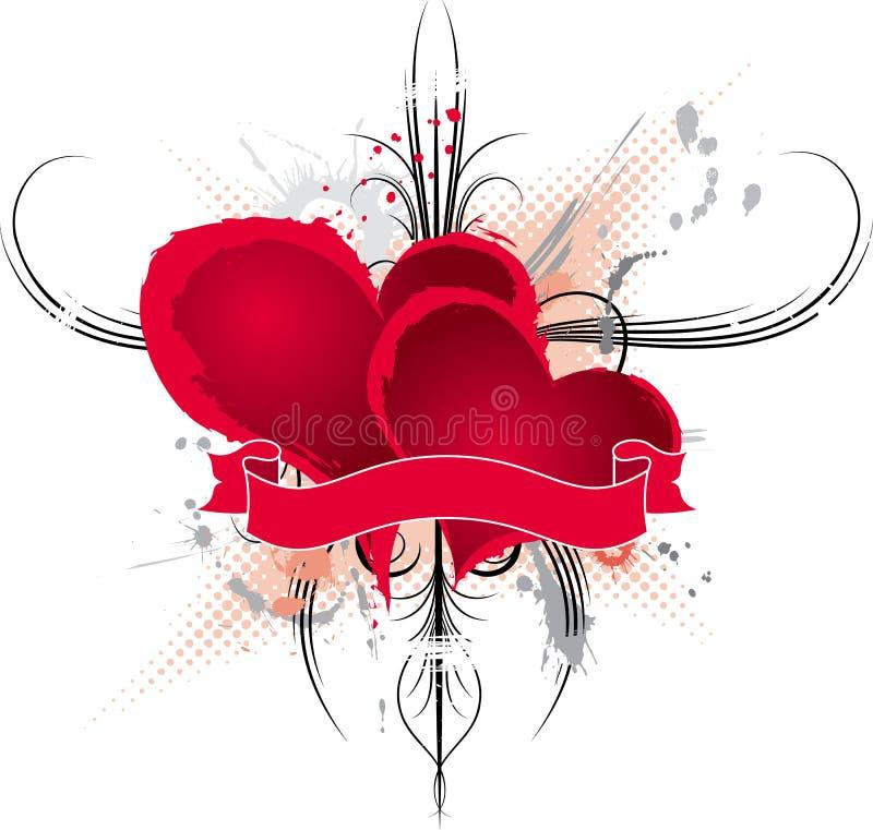 Trame abstraite de valentines, vecteur illustration libre de droits