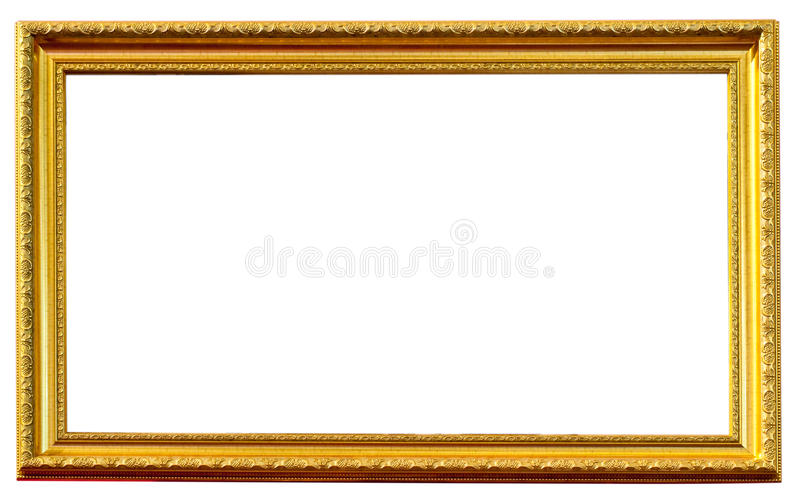 Trame antique d'or d'isolement image stock