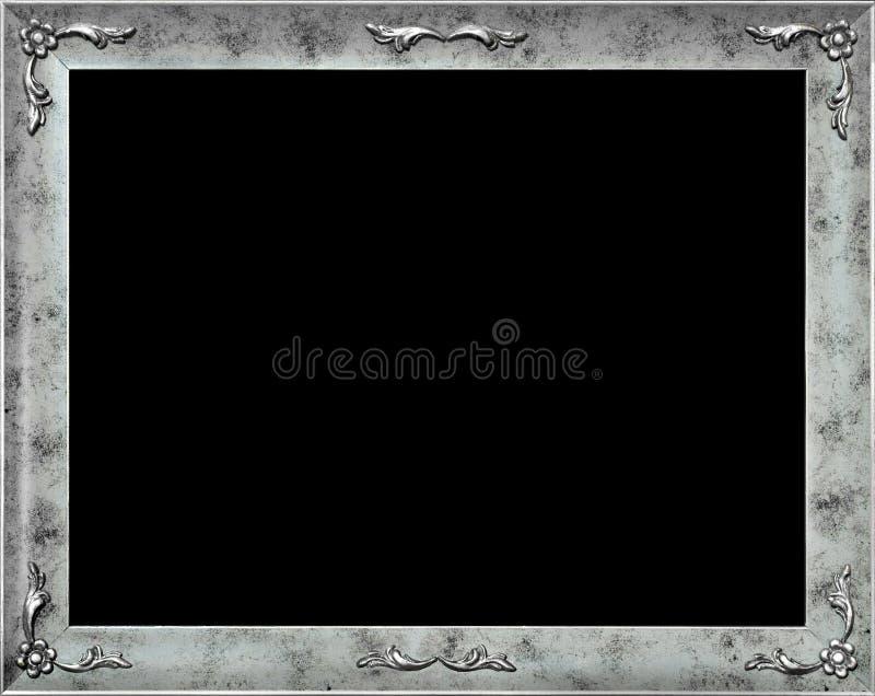 Trame argentée élégante avec des fleurs illustration stock