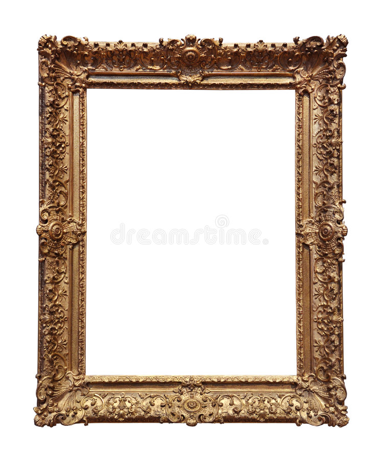Trame baroque d'or photo stock