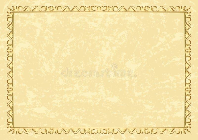 Trame beige de cru de vecteur léger illustration stock