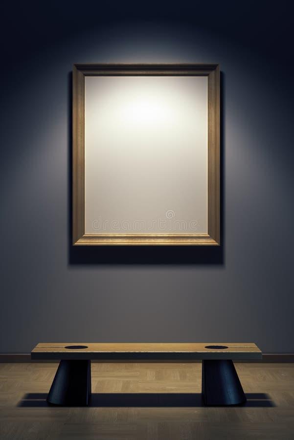 Trame blanc dans la rampe illustration stock