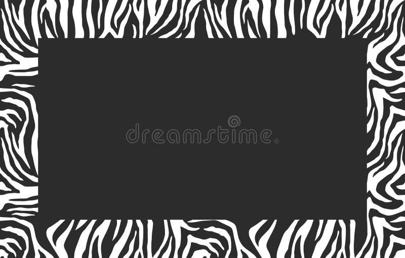 Trame blanc de photo Modèle de zèbre Cadre élégant de rayures Pour la conception de couverture Fond de vecteur illustration libre de droits