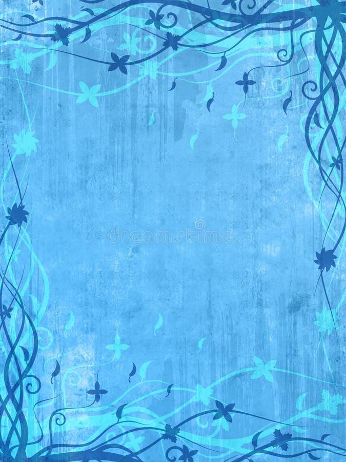 Trame bleue avec les configurations florales illustration de vecteur