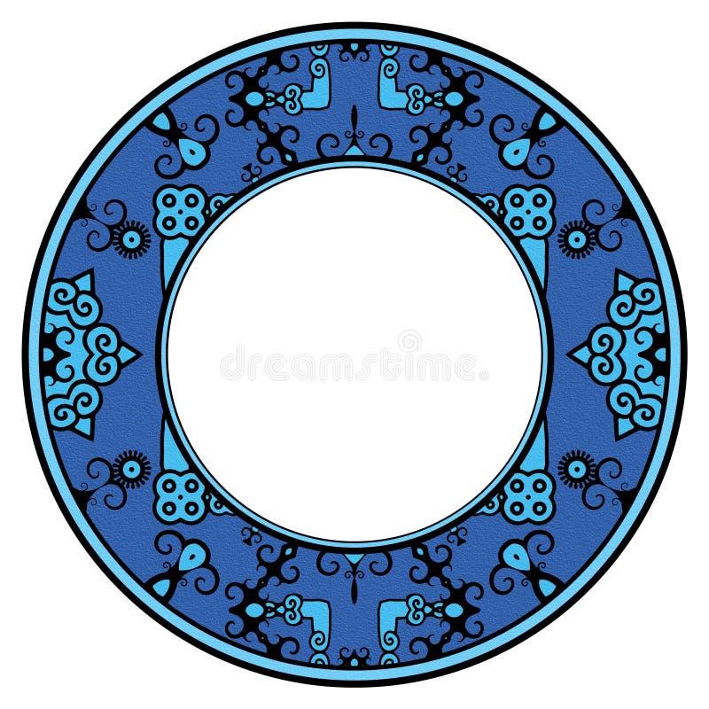 Trame bleue fleurie illustration stock
