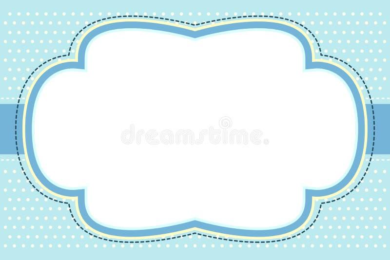 Trame bleue fleurie de bulle illustration de vecteur