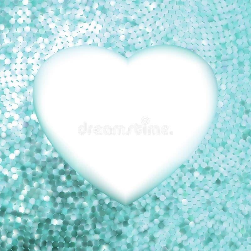 Trame bleue sous forme de coeur. ENV 8 illustration libre de droits