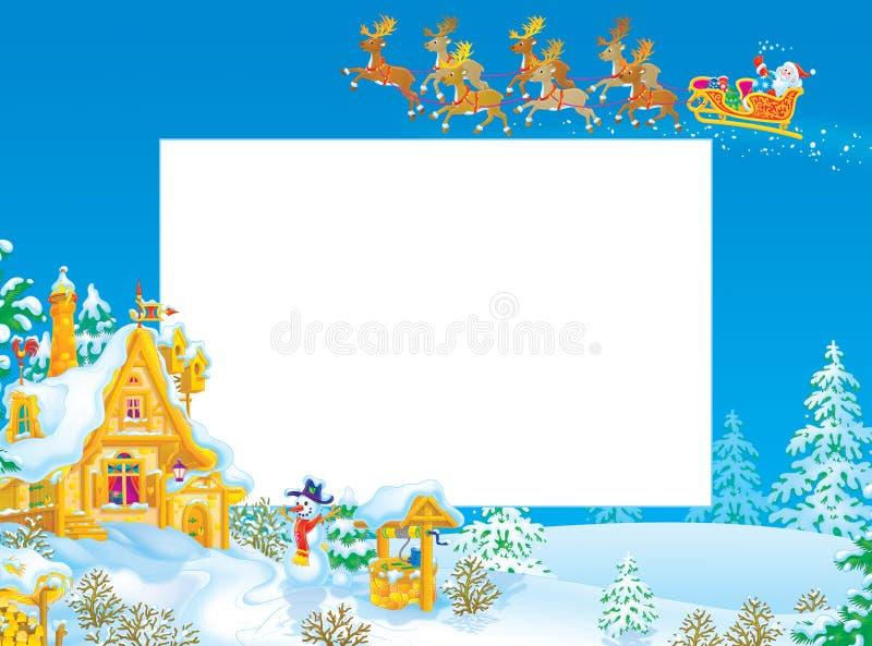 Trame/cadre de Noël avec le père noël illustration libre de droits