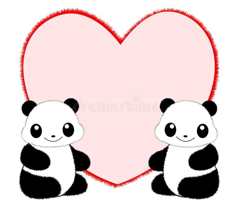 Trame/cadre de panda illustration de vecteur
