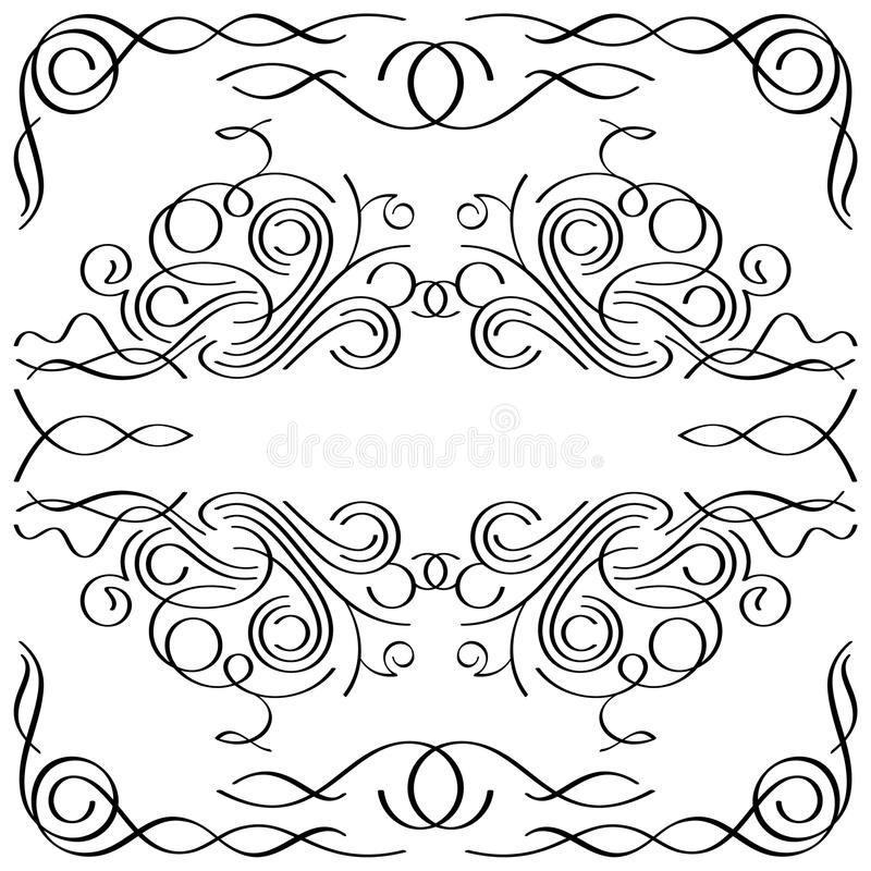 Trame calligraphique images stock